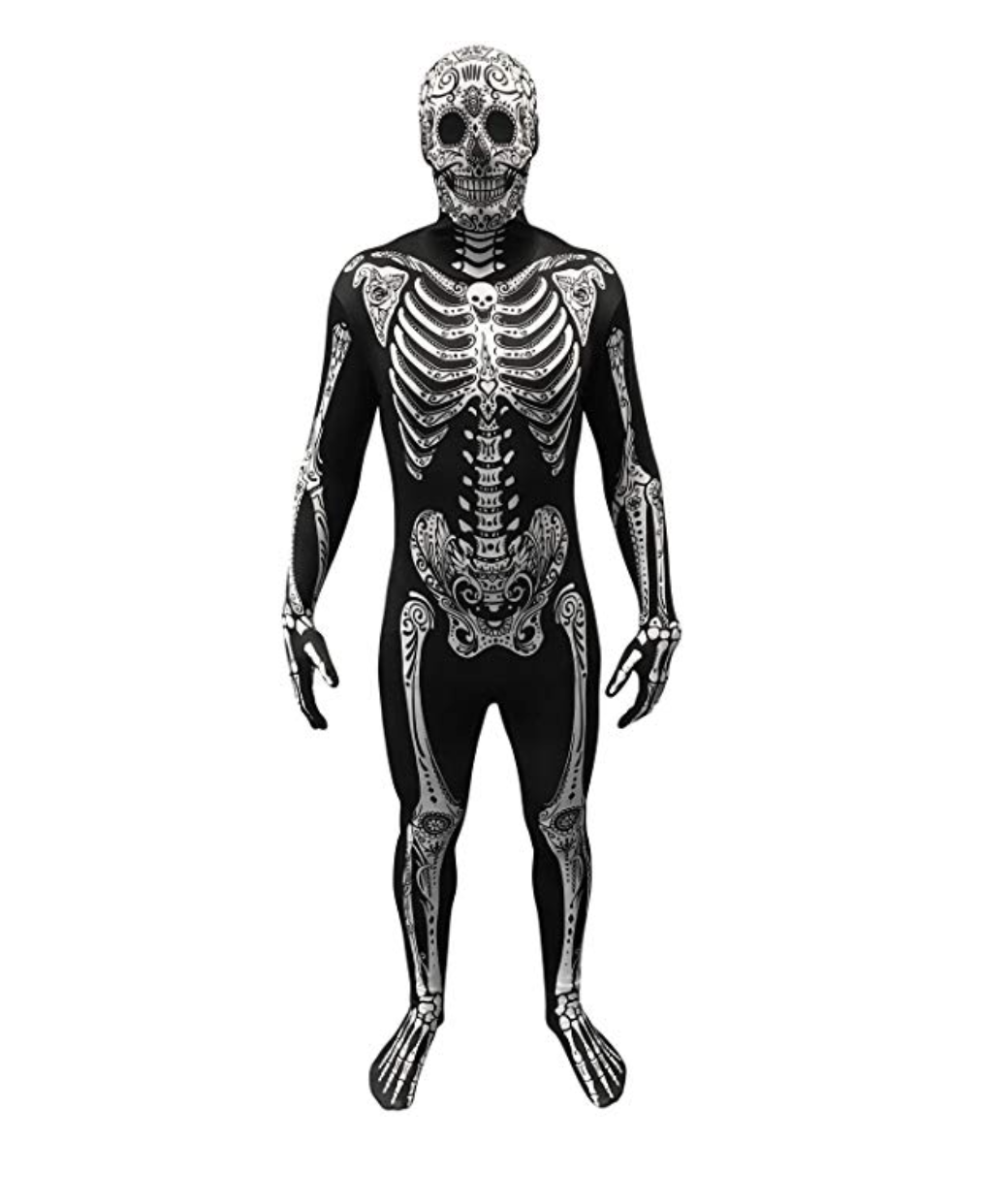 Morphsuit Sugar Skull Skeleton Costumes