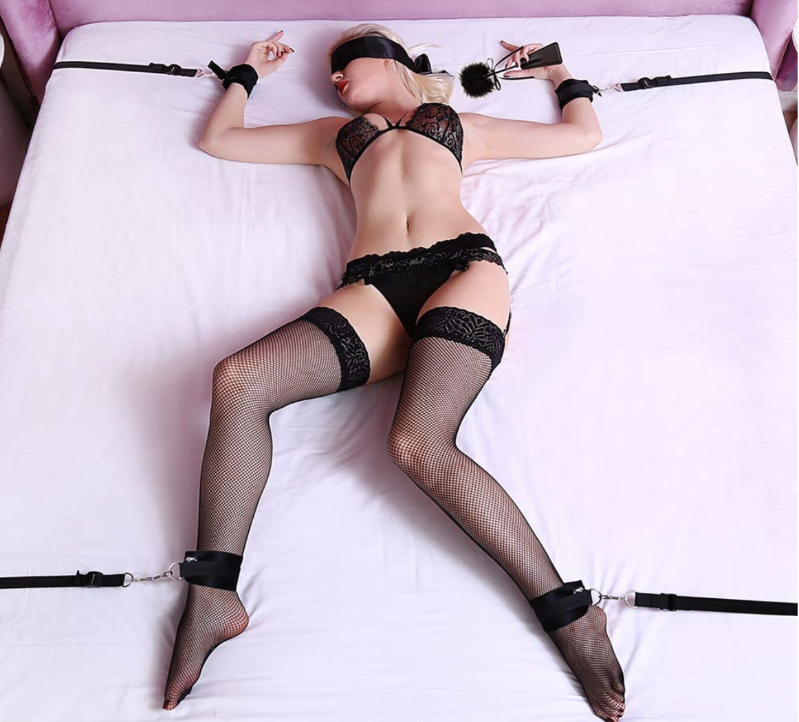 Utimi Fetish Bed Restraint Sex Set