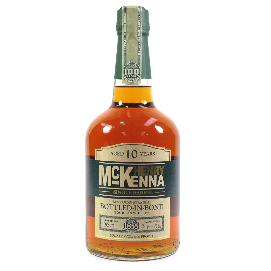 Henry McKenna Single Barrel Bourbon
