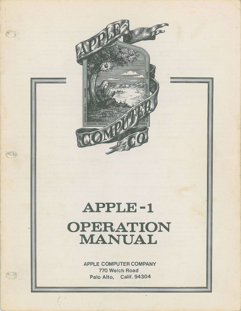 Apple Computer 1 Operation Manual