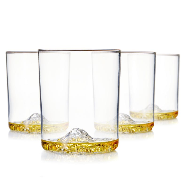 Huckberry American Mountains Rocks Glasses
