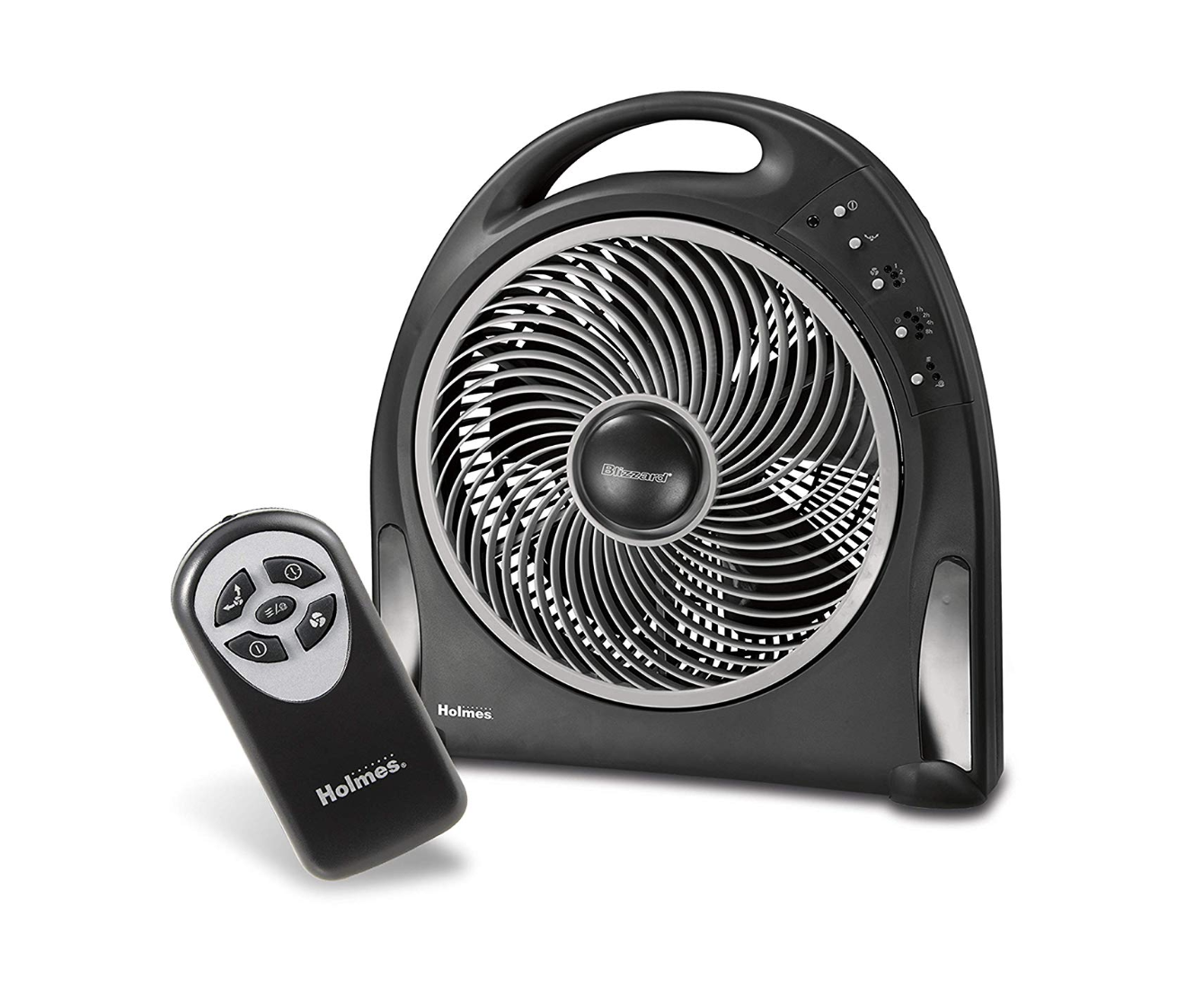 Holmes 12-Inch Fan | Blizzard Rotating Fan with Remote Control