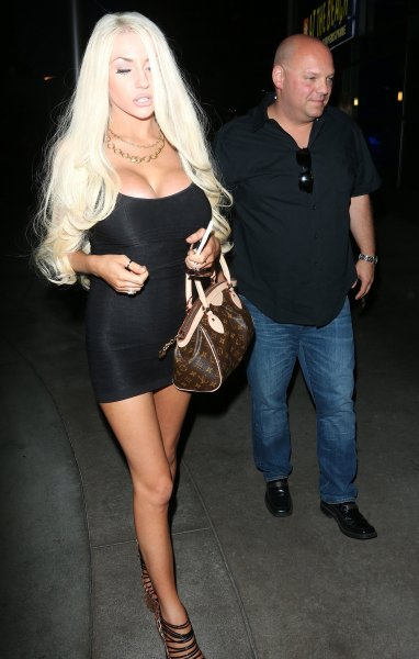 Courtney Stodden leaves the ArcLight Cinema in Hollywood