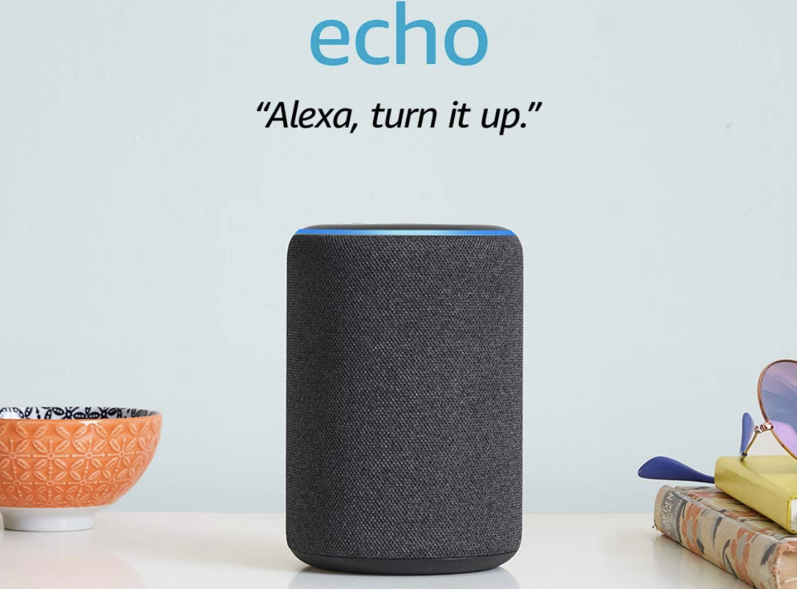 Echo (3rd Gen) – Charcoal and 4 Months of Amazon Music Unlimited Free With Autorenewal