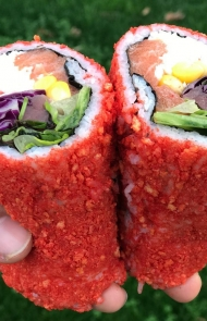 Flamin' Hot Cheetos Sushi Burrito