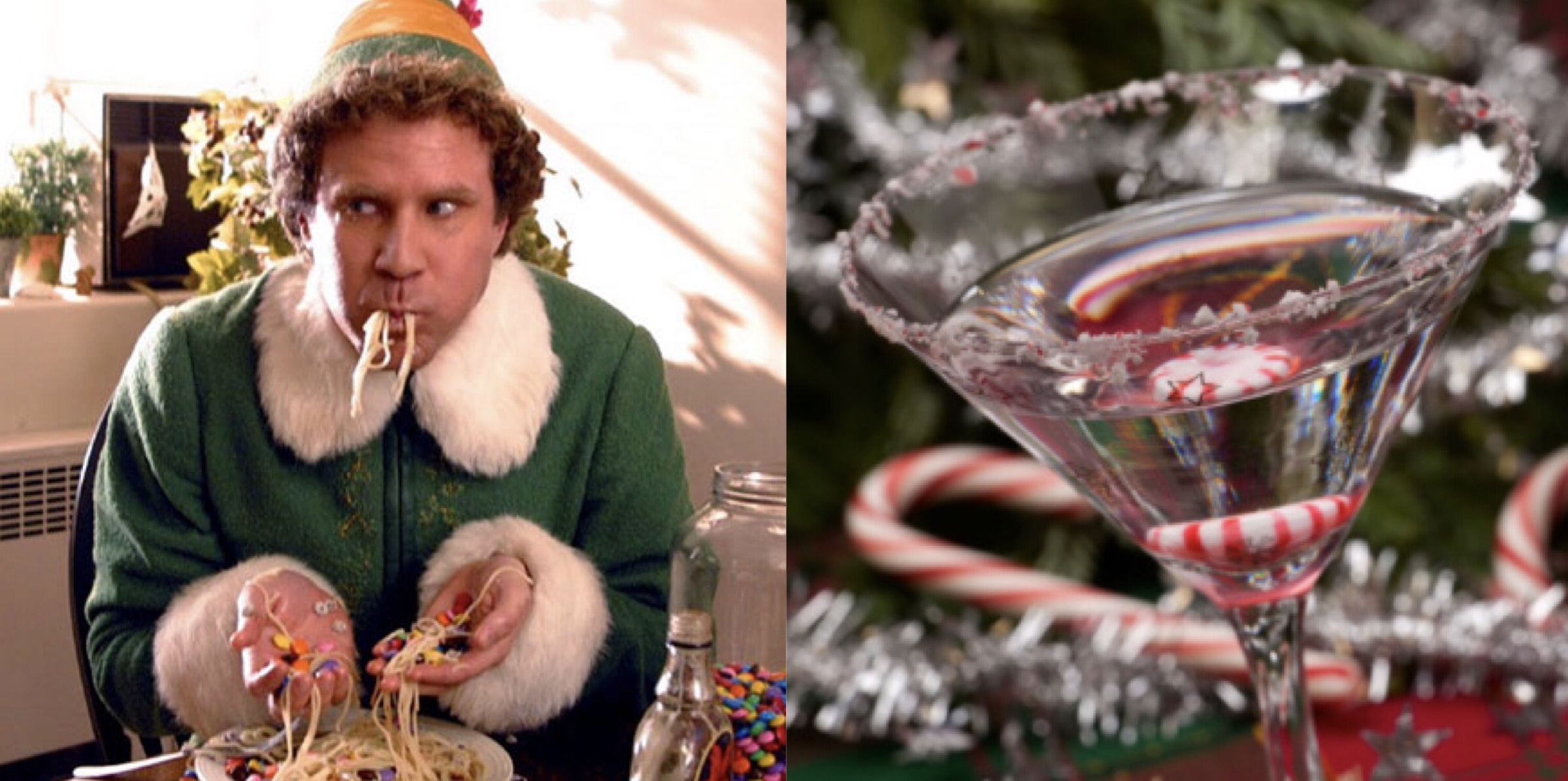 'Elf' and a Candy Cane Cocktail