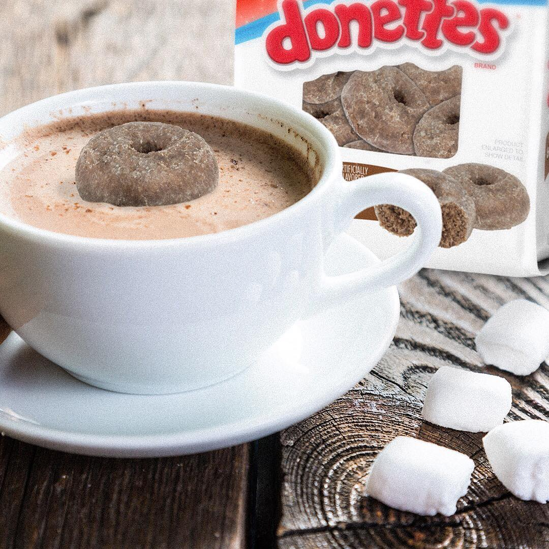 Hot Cocoa and Marshmallow Donettes