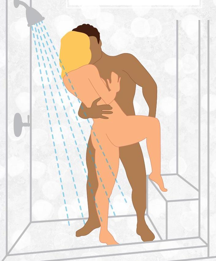 Leg-Up Shower Sex