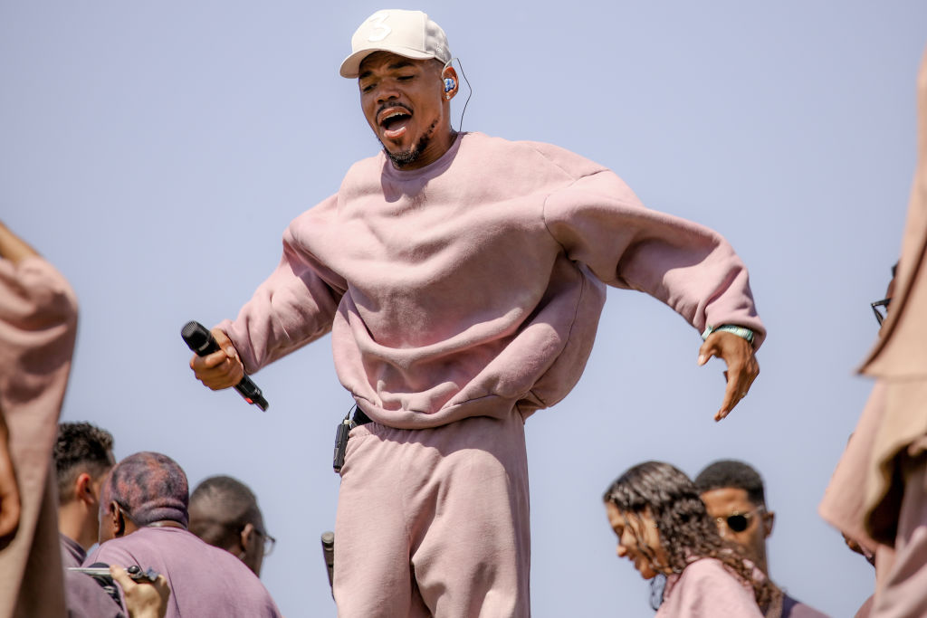 Chance The Rapper Performs At Kanye West's Sunday Service