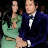 Singers Katy Perry (L) and John Mayer attend the 55th Annual GRAMMY Awards at STAPLES Center