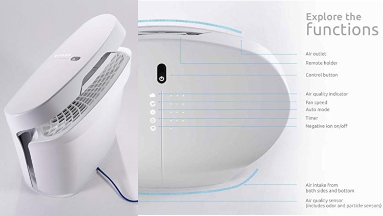 RabbitAir BioGS 2.0 Ultra Quiet HEPA Air Purifier