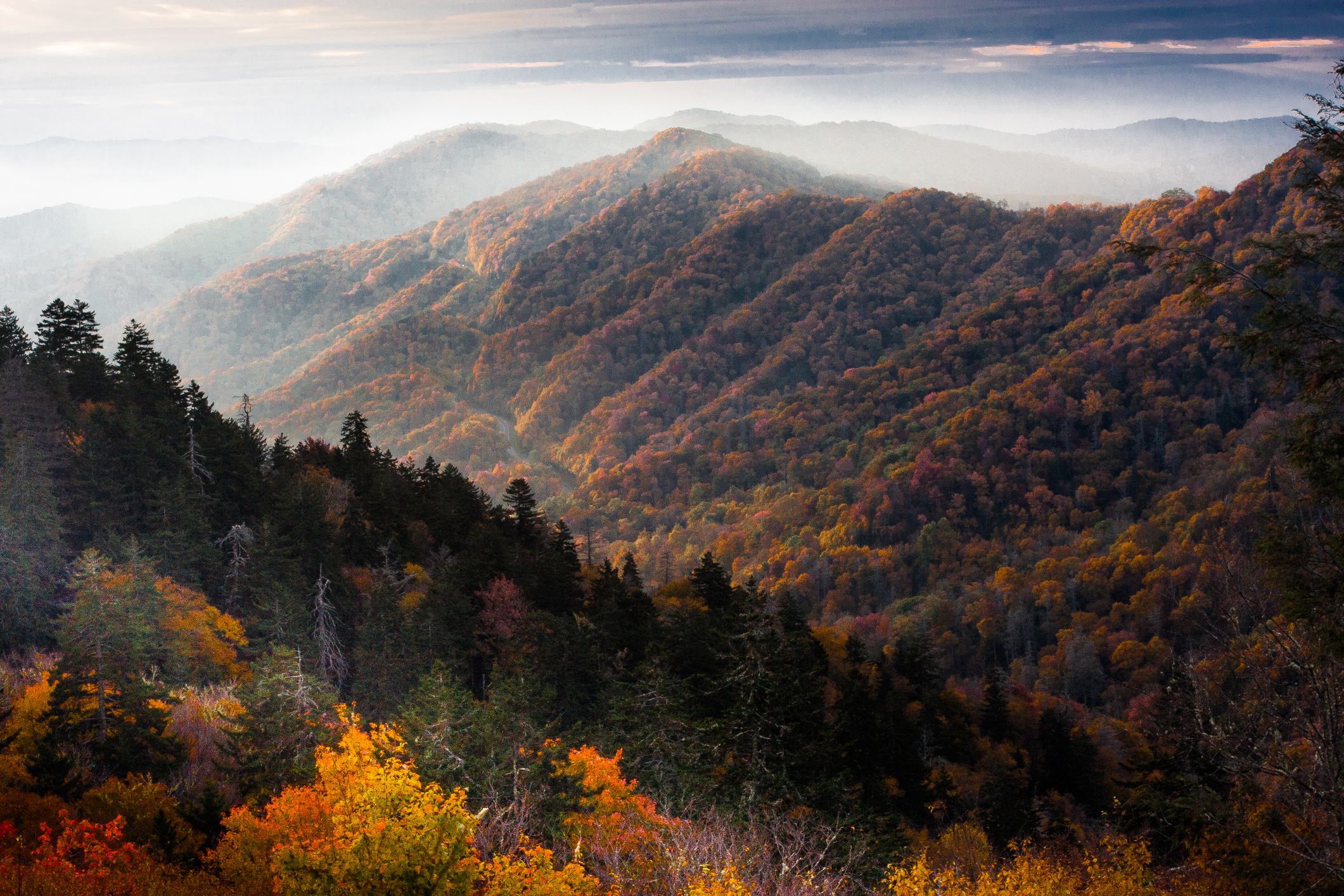 2. Great Smoky Mountains National Park (North Carolina and Tennessee)