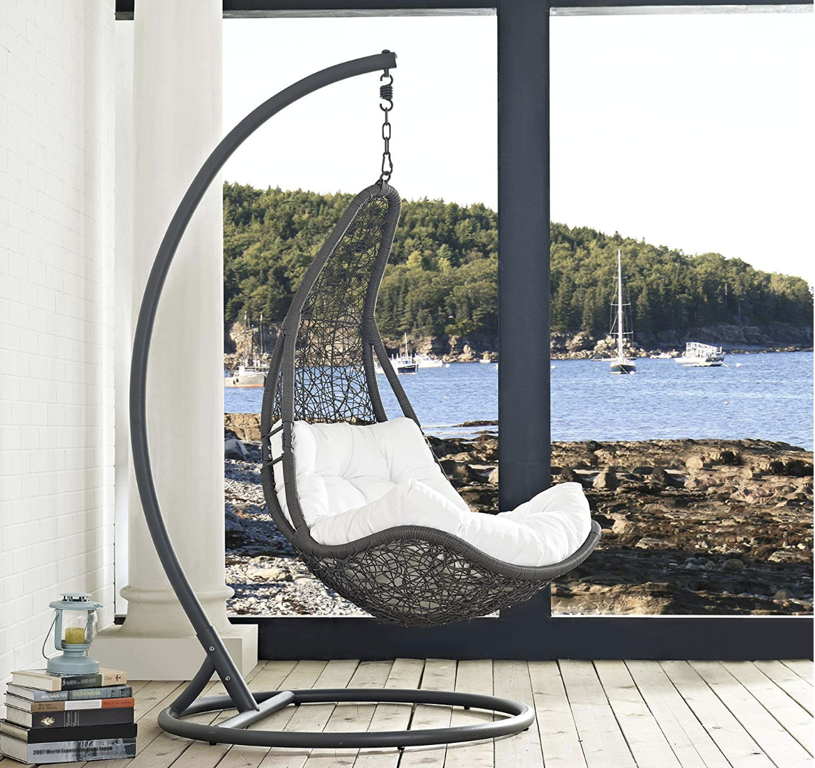 Modway Wicker Outdoor Swing Pod With Mount