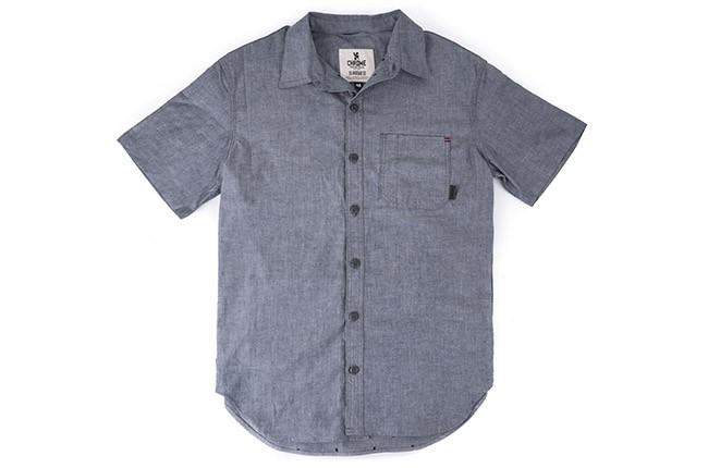 Chrome, Short Sleeve Woven Work Shirt