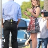 Sophia Bush Guests on Extra at Citywalk with Mario Lopez