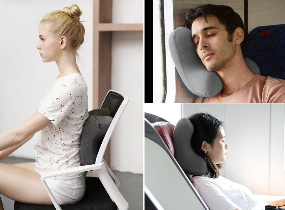 Haobaimei Memory Foam Travel Neck Pillow