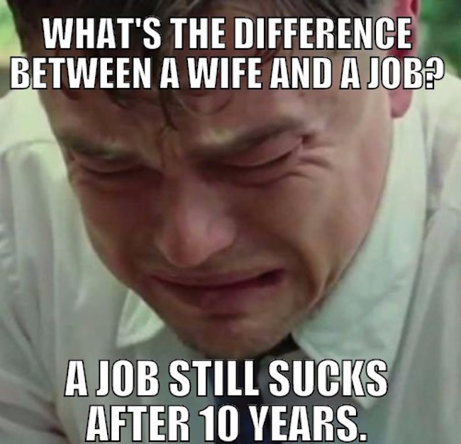 What's the difference between a wife and a job?