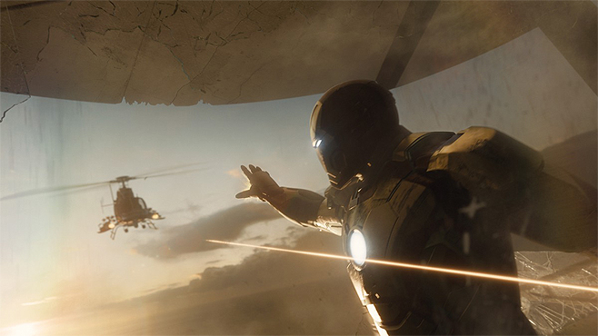 15. The Helicopter Siege, from Iron Man 3