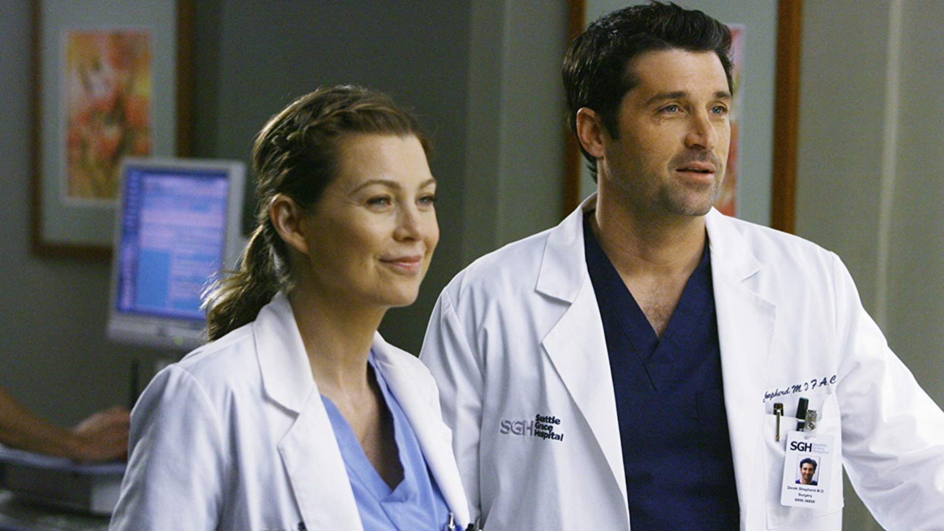 17. Meredith and Derek on 'Grey's Anatomy'