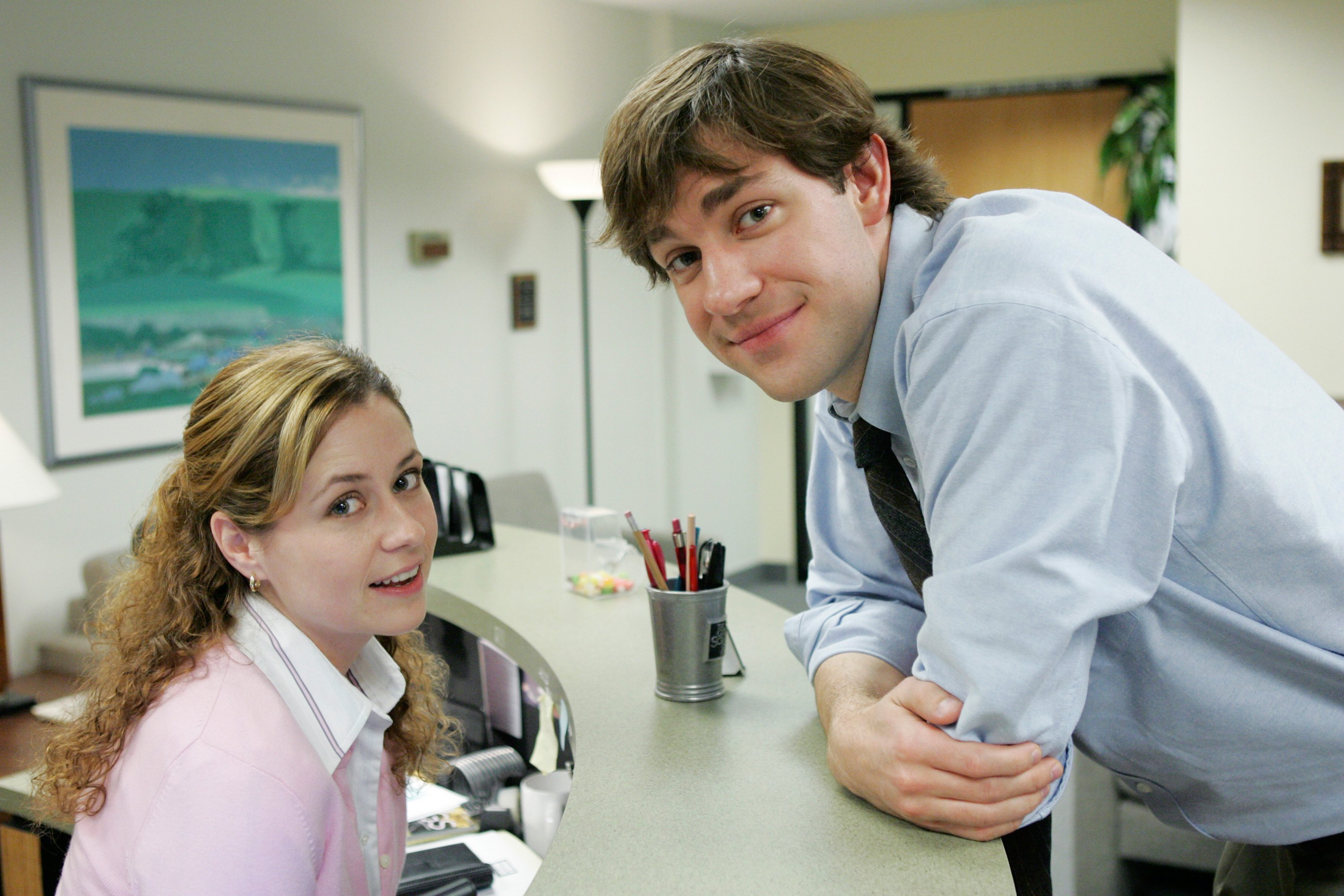2. Jim and Pam on 'The Office'