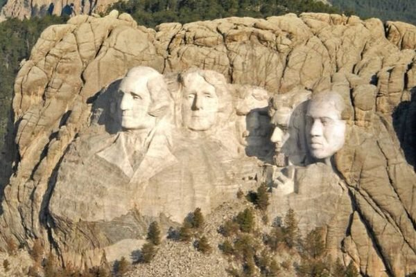 Dumb as Rocks: Kanye West Photoshops His Face Onto Mount Rushmore